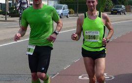 Onderweg met Bastian op de Gronauweg - Foto: @MarathonPeter