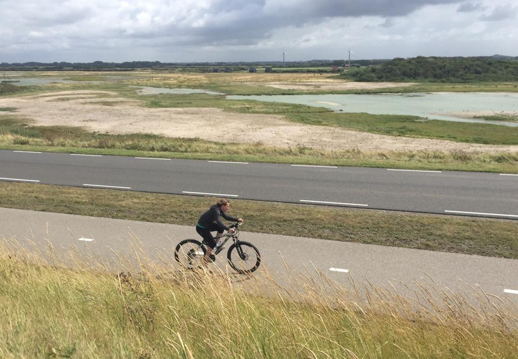 Voor Merit was het afzien op de fiets!
