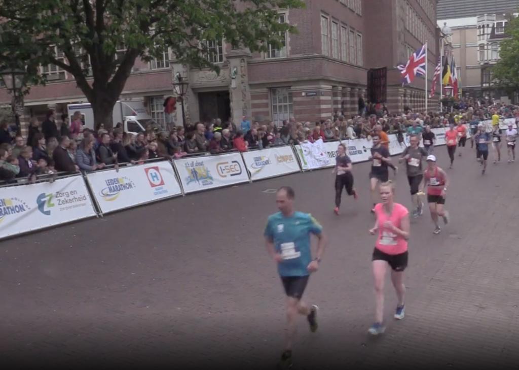 Finish-screendump: Leiden Marathon organisatie