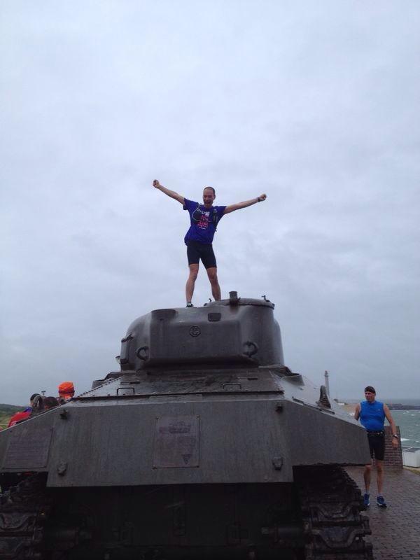 Tja, die tank in Westkapelle, die heeft iets magisch :) - Foto: Petra