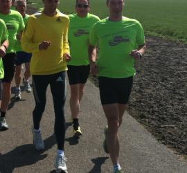 Leiden Marathon Parcoursverkenning met Koen Raymaekers