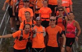 De oranje groep klaar voor de start van de 5e Zeeuwse trainingsloop