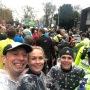 Klaar voor de start van een natte Two Rivers marathon
