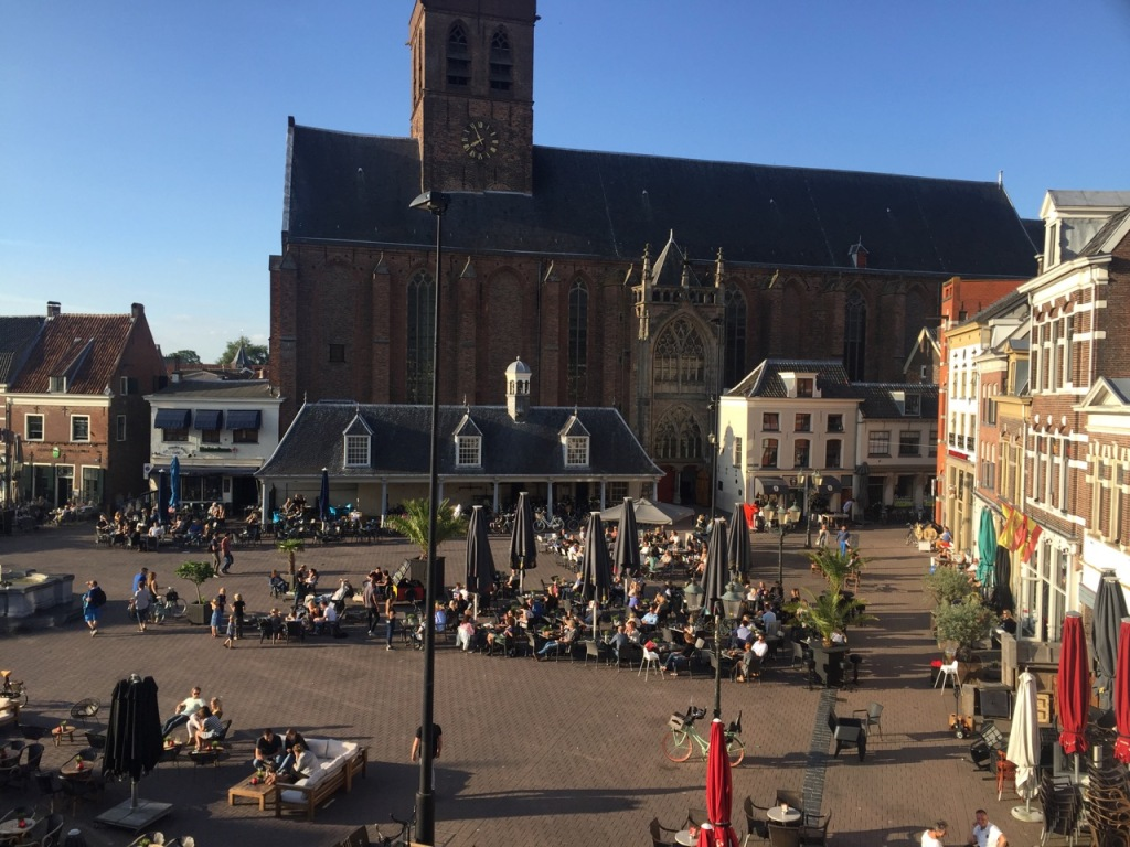 Ons 'penthouse' uitzicht - Hof in Amersfoort