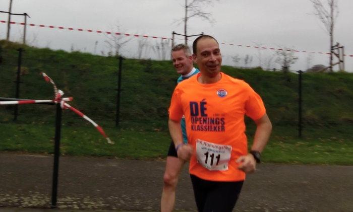 Bijna bij de finish met Martijn - Videocapture: Marco