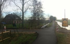 Hier ging ik het parcours op. Je komt vanaf Koudekerk a/d Rijn en gaat hier naar links de Groenwegh op richting Hoogmade (18,8KM)