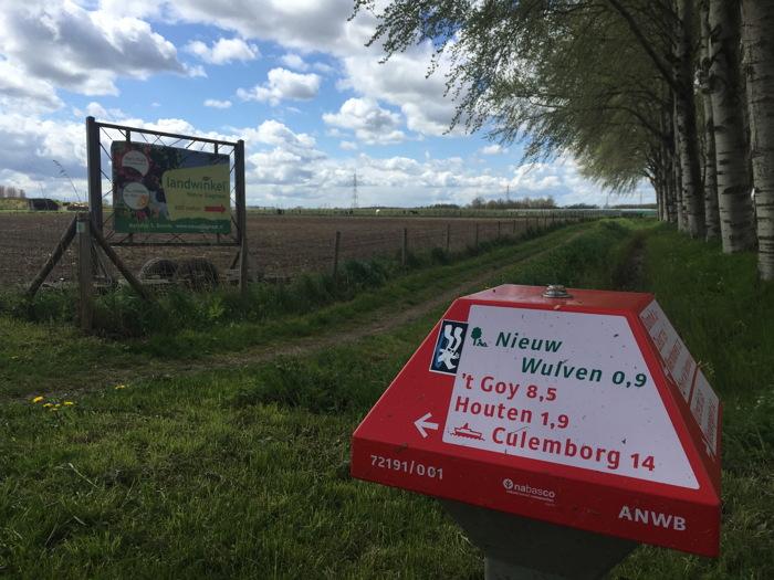 7KM punt - Onderweg naar het pontje bij Culemborg
