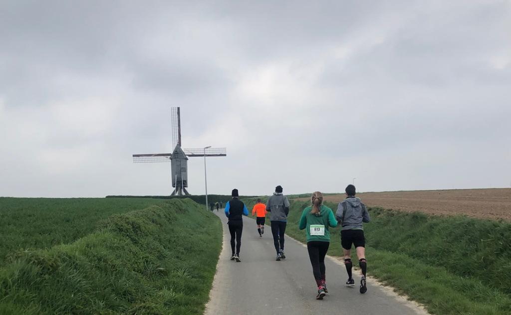 Onderweg tijdens de marathon van Zwalm