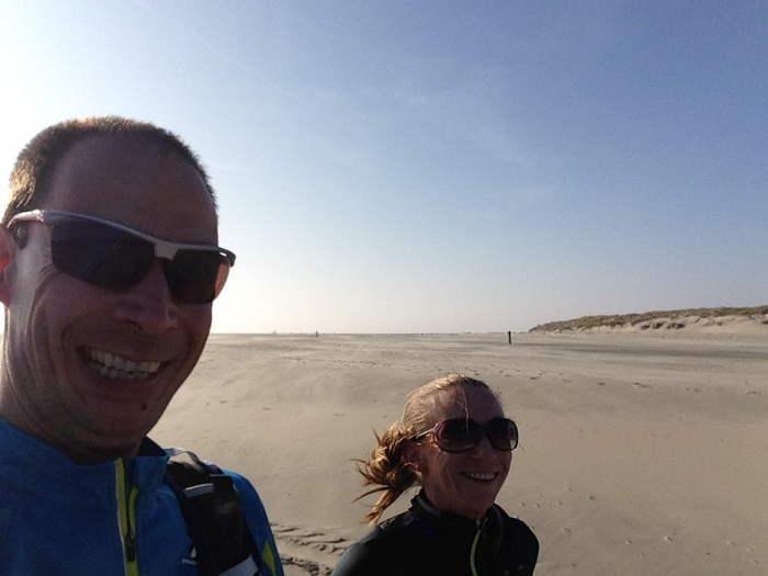 Je hebt bijna het hele strand voor jezelf, zeker als je dichterbij bij West Vlieland komt.