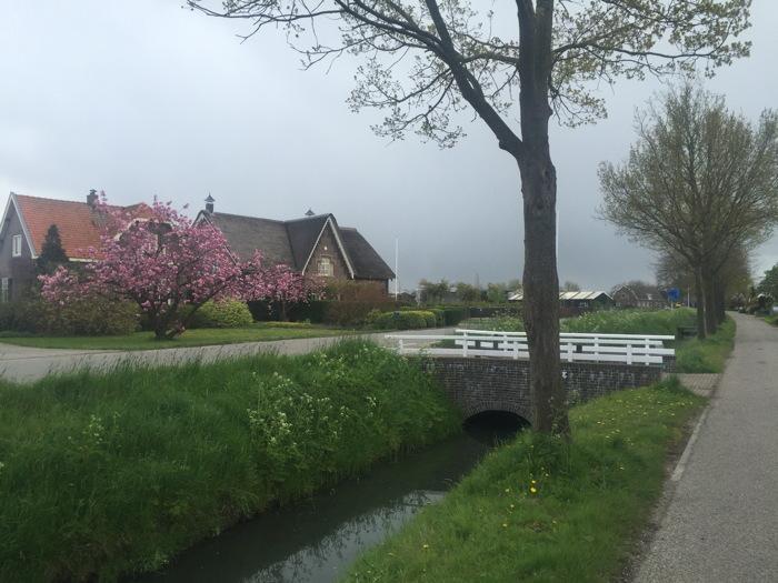 Lopen door Schalkwijk richting de Lek