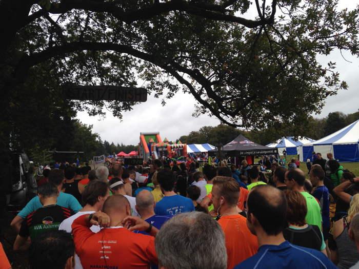 Vlak voor de start van de halve marathon