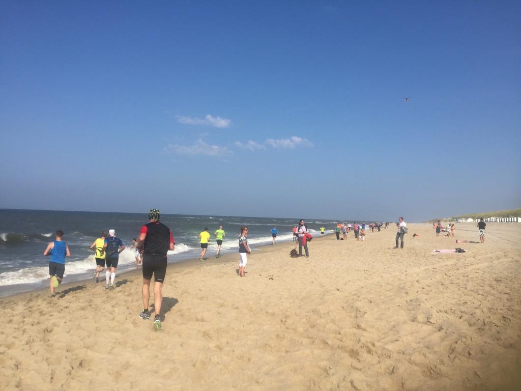 Het strand was pittig