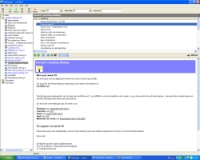 RSS reader screenshot