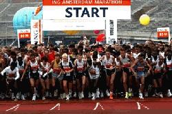 Start van een marathon