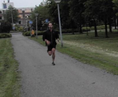 Door het park rennen