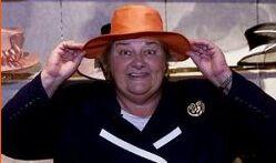 Erica, ook ambassadrice van de hoedenverkopers