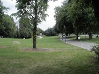 park bij het hotel