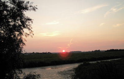 sunset in Alphen