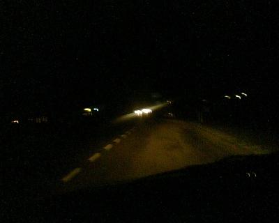 Donker onderweg