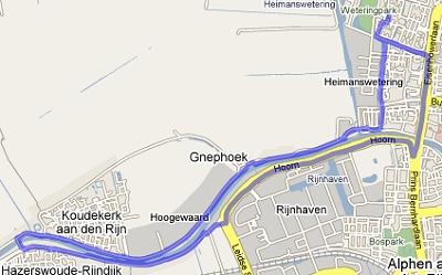 Rondje langs de Oude Rijn