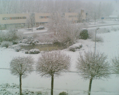 Sneeuw in Leiden
