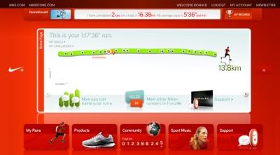 Nike+ site