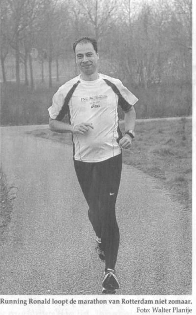 Running Ronald in het Alphens Nieuwsblad