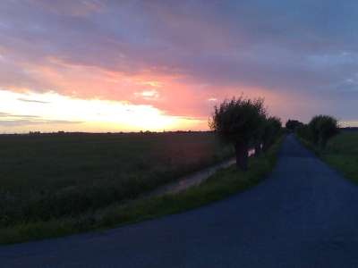 Sunset aan de Batelaan