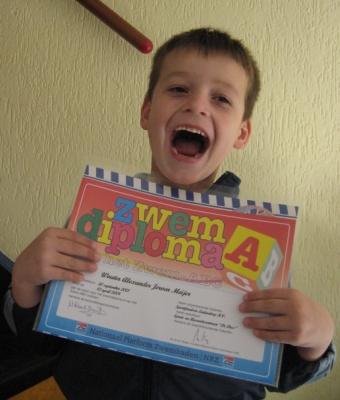 Wouter met zijn A diploma