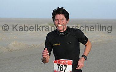 Claudia Wesselman, winnares Berenloop Terschelling Marathon