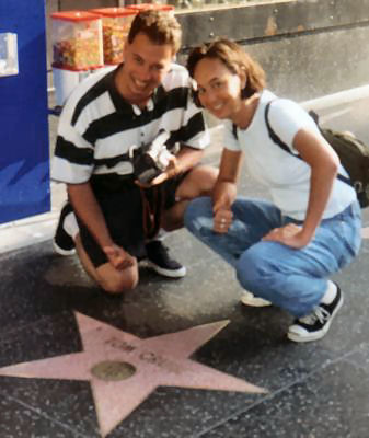 Tanya en RR op de Walk of Fame