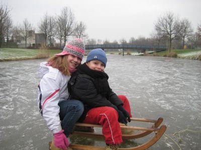 Michelle en Wouter op het ijs