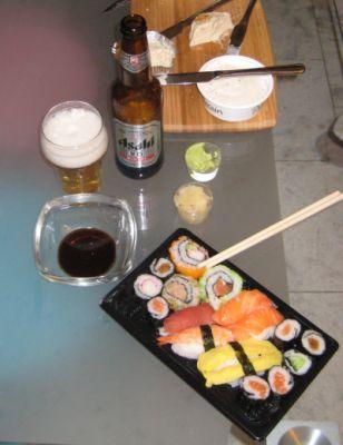 sushi op oudejaarsavond