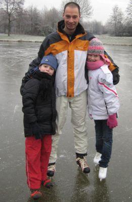 fam Meijer op het ijs